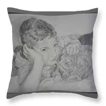 Stone And Bear Throw Pillow