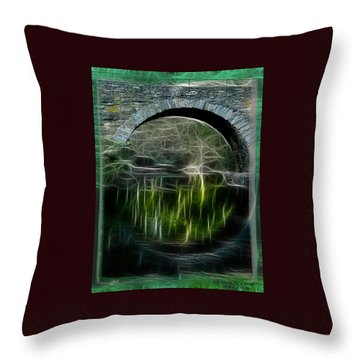 Throw Pillow featuring the photograph Stone Arch Bridge - Ny by EricaMaxine  Price
