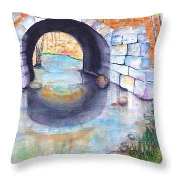 Stone Arch Bridge Dunstable Throw Pillow