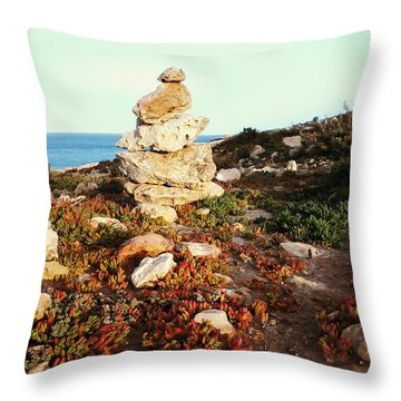 Throw Pillow featuring the photograph Stone Balance by Lucia Sirna
