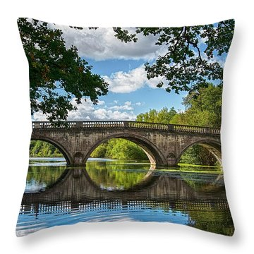 Stone Bridge Over The River 590  Throw Pillow
