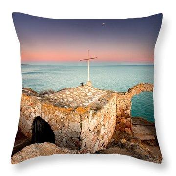 Stone Chapel Throw Pillow