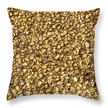 Throw Pillow featuring the photograph Stone Chip On A Wall by John Williams