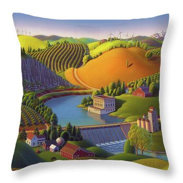 Stone City West Throw Pillow by Robin Moline