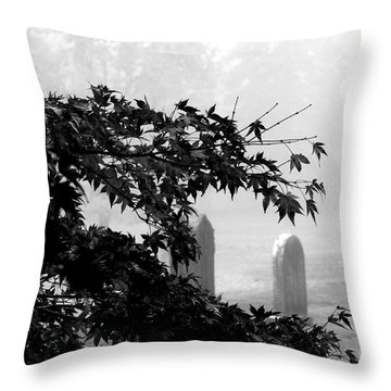 Stone Cold Fog Throw Pillow
