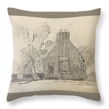 Stone Cottage Throw Pillow
