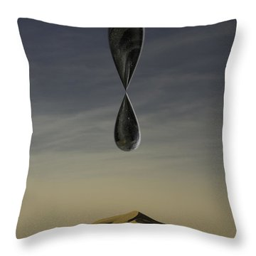 Throw Pillow featuring the photograph Stone Drip Over Dunes One by Kevin Blackburn