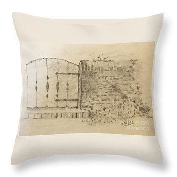 Stone Gate Throw Pillow