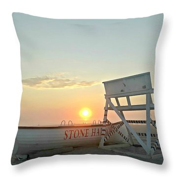 Stone Harbor Sunrise Throw Pillow
