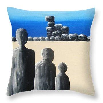 Stone Horizon Throw Pillow by Reb Frost