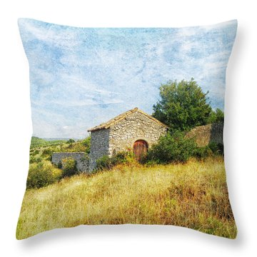 Provence Countryside Throw Pillow