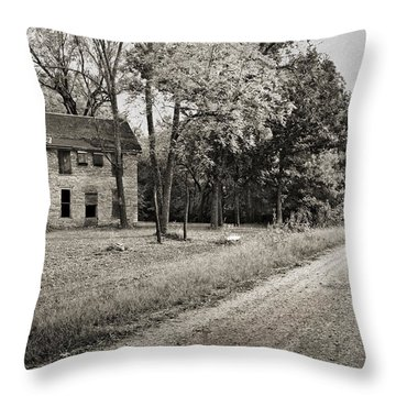 Stone House Road Throw Pillow