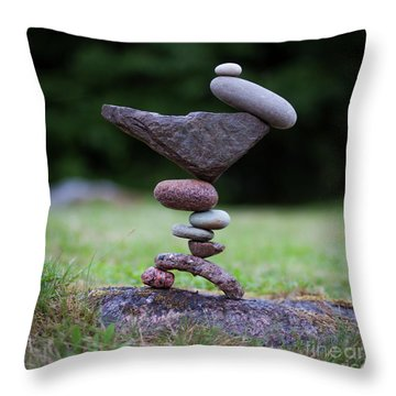 Stone Insect Throw Pillow