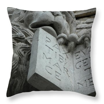 Stone Lion II Throw Pillow