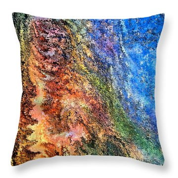 Stone Man By Rafi Talby Throw Pillow by Rafi Talby
