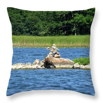 Stone Man Of  The Rift Throw Pillow