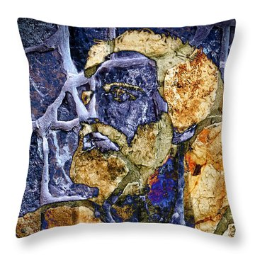 Throw Pillow featuring the photograph Stone Man by Pennie  McCracken