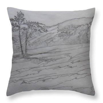 Stone Mountain And The Four Sisters Throw Pillow
