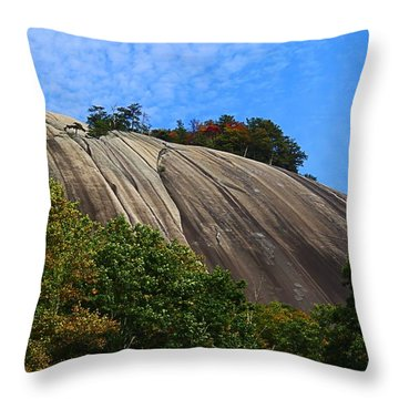 Stone Mountain Throw Pillow by Kathryn Meyer