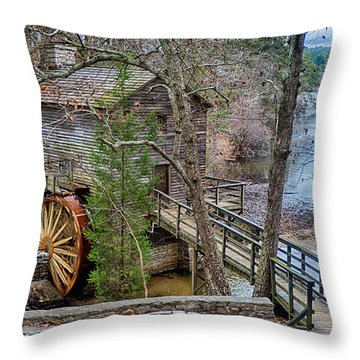 Stone Mountain Park In Atlanta Georgia Throw Pillow