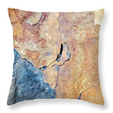 Throw Pillow featuring the photograph Stone Pattern by Christina Rollo
