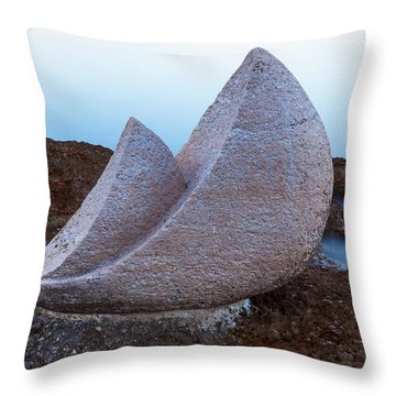 Stone Sails Throw Pillow