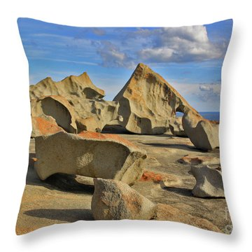 Stone Sculpture Throw Pillow