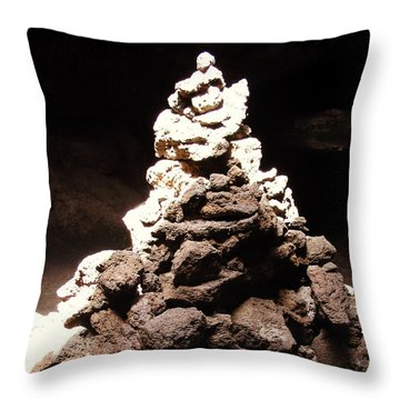 Throw Pillow featuring the photograph Stone Soul by Lucia Sirna