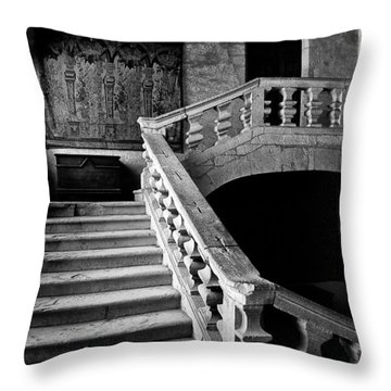 Throw Pillow featuring the photograph Stone Stairs by Adrian Pym