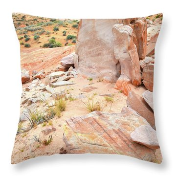 Throw Pillow featuring the photograph Stone Tablet In Valley Of Fire by Ray Mathis