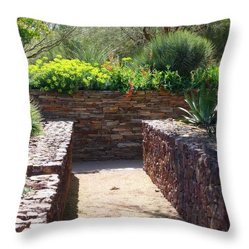Stone Walkway Throw Pillow by Kathryn Meyer