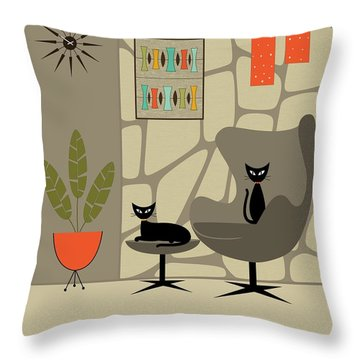 Stone Wall Throw Pillow