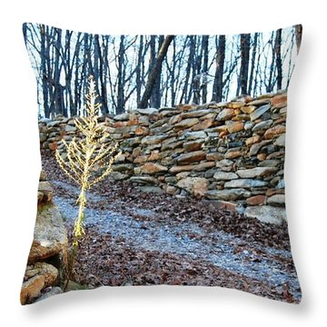 Stone Wall Ga Mountain 1 Throw Pillow