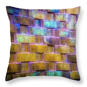 Brick Wall In Abstract 499 Throw Pillow