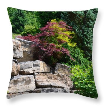 Stone Wall Throw Pillow by Kathleen Stephens