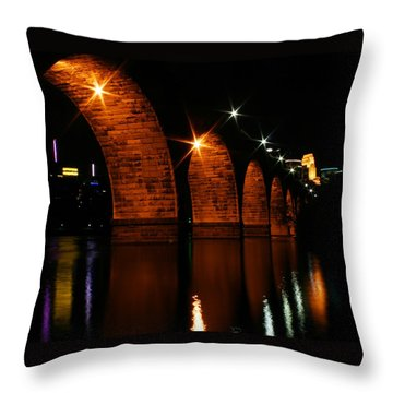 Stonearch Bridge - Minneapolis Throw Pillow