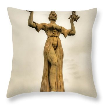 Stoned Beauty Throw Pillow by Syed Aqueel