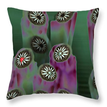 Stoned Flowers Throw Pillow