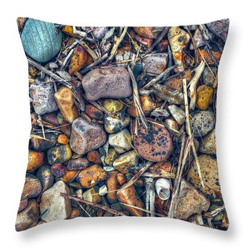 Throw Pillow featuring the photograph Dry Creek by Wayne Sherriff