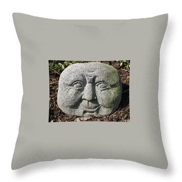Stoneface Throw Pillow