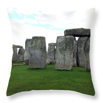 Throw Pillow featuring the photograph Stonehenge 1 by Francesca Mackenney