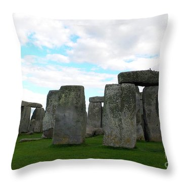 Throw Pillow featuring the photograph Stonehenge 2 by Francesca Mackenney