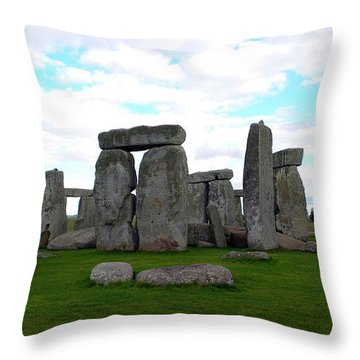 Throw Pillow featuring the photograph Stonehenge 3 by Francesca Mackenney