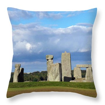 Throw Pillow featuring the photograph Stonehenge 4 by Francesca Mackenney