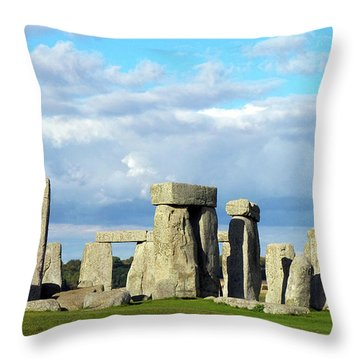 Throw Pillow featuring the photograph Stonehenge 5 by Francesca Mackenney