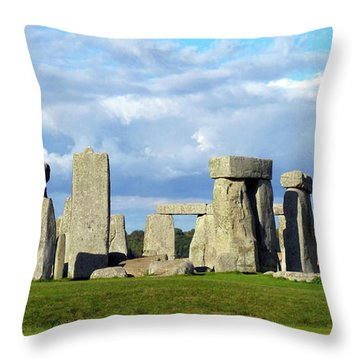 Throw Pillow featuring the photograph Stonehenge 6 by Francesca Mackenney