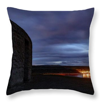 Throw Pillow featuring the photograph Stonehenge And The Columbia by Cat Connor