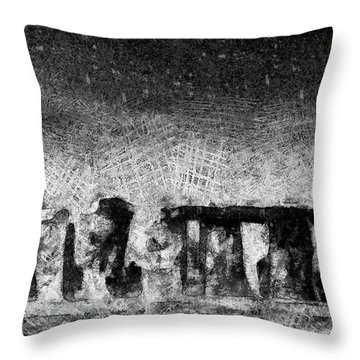 Stonehenge At Dusk Throw Pillow