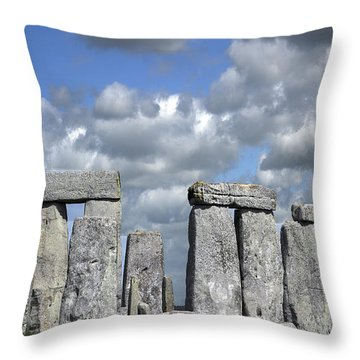 Throw Pillow featuring the photograph Stonehenge by Elvira Butler