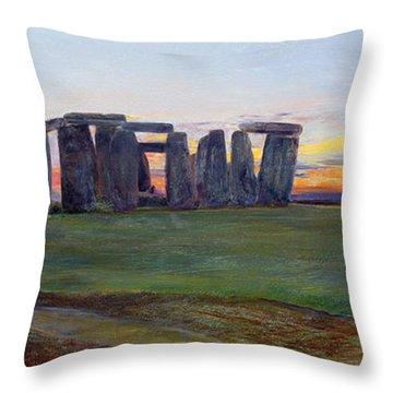 Stonehenge Throw Pillow by John William Inchbold